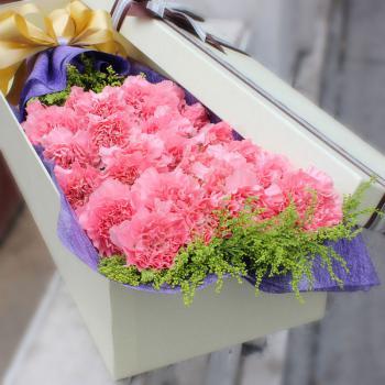 守候-19朵粉色康乃馨礼盒
