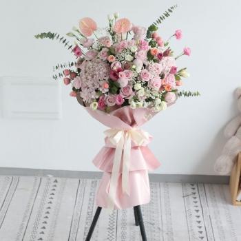 开业花篮-幸福之花-韩式开业花篮一个