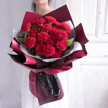 醉思恋-19朵红色康乃馨花束