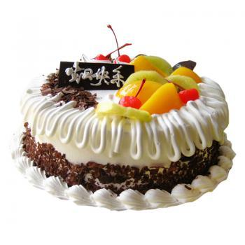 生日蛋糕 鲜奶蛋糕 圆形蛋糕 蛋糕速递-生日蛋糕,纪念