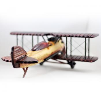 复古双翼飞机模型- 商品详情