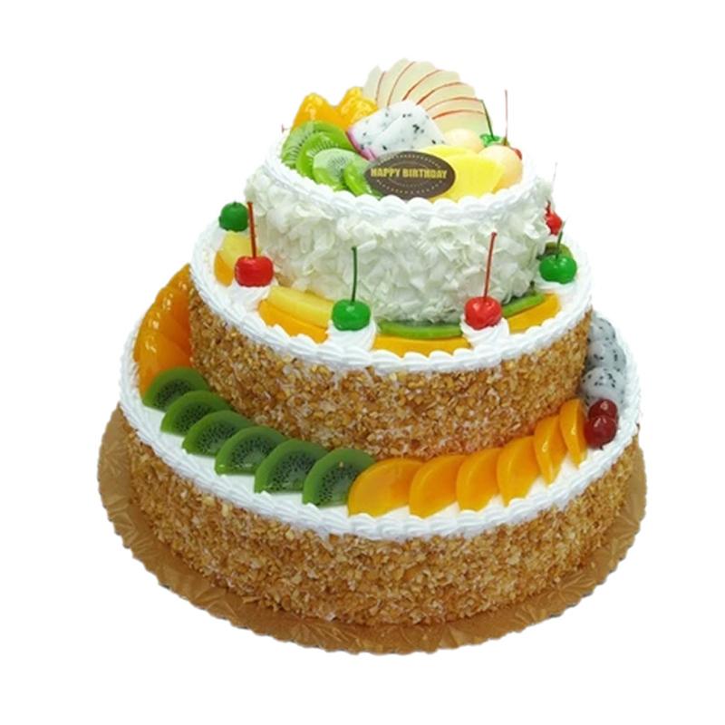 蛋糕 蛋糕欢乐嘉年华  <> 多层,上下两层的尺寸相差最少4英寸.