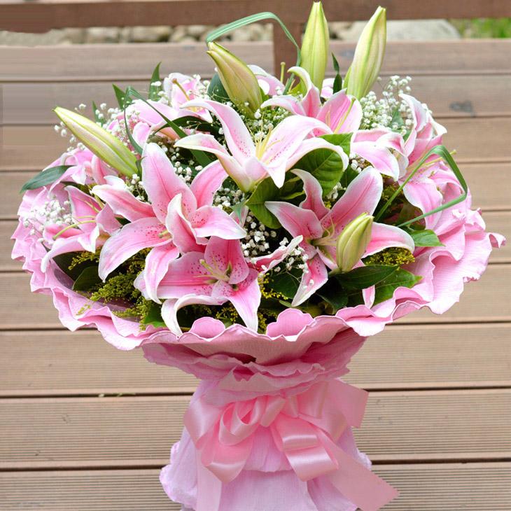 百合花 生日 祝福鲜花图片