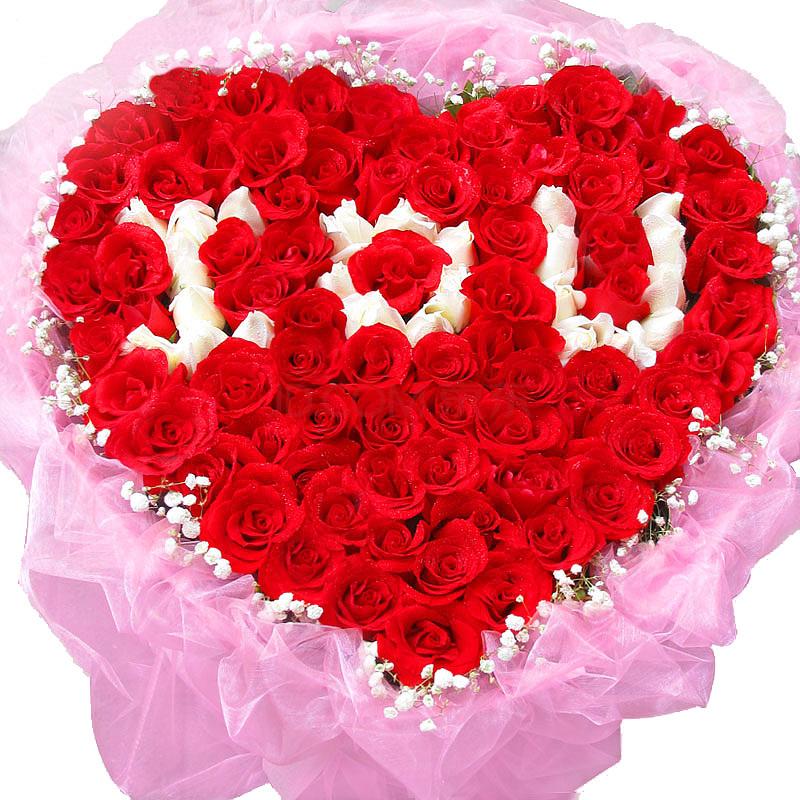 情人节送99朵玫瑰花