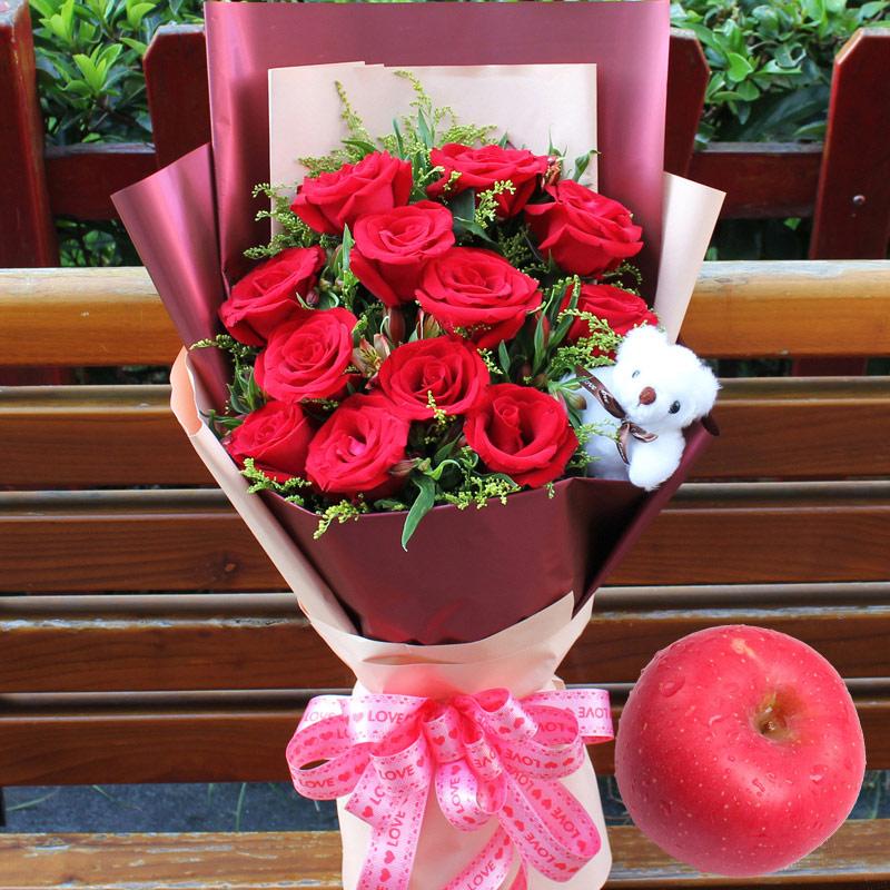 鲜花 11朵红玫瑰