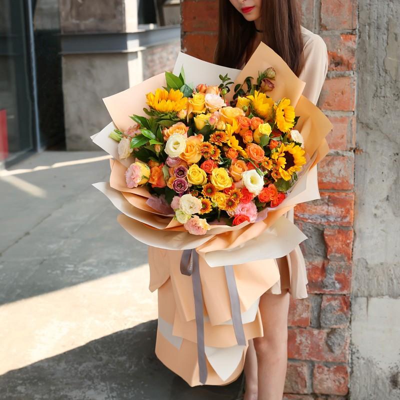 阳光如你-向日葵韩式花束