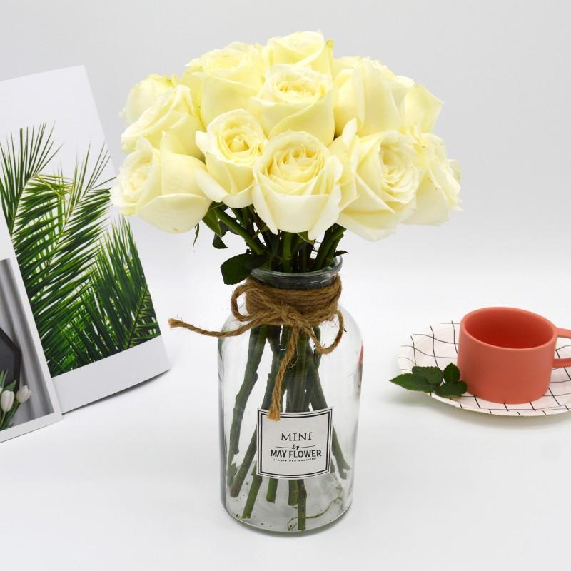 基地直送-18朵白玫瑰+送2朵