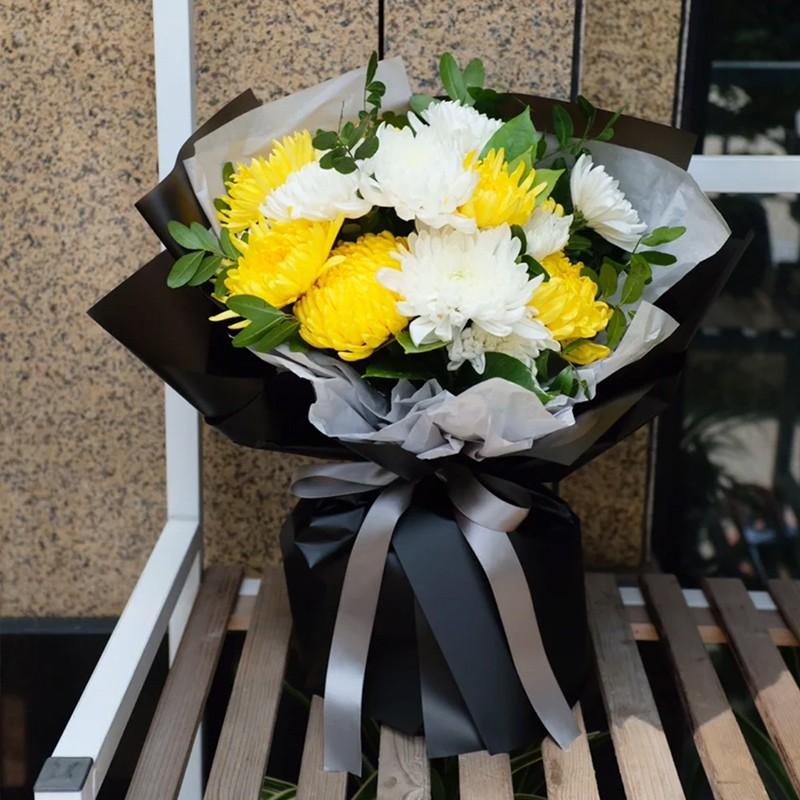 清明节款式-11朵混搭菊花花束