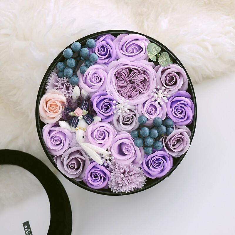 香皂花-香皂花圆形礼盒